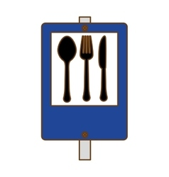 Blue signal restaurant near icon design vector