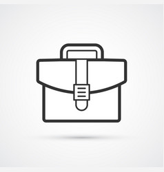 briefcase flat line trendy icon eps10 vector image