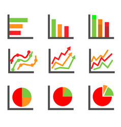 business data elements and charts vector image vector image