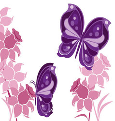 Butterflies-and-flowers-2 vector