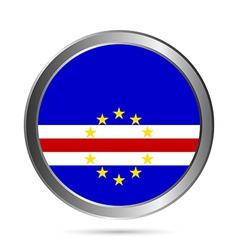 Cape Verde flag button vector image