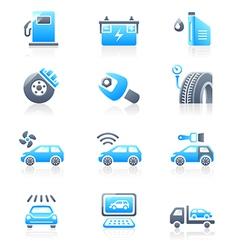 Cars service icon - Marine series vector image vector image