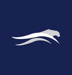 cheetah fast run logo template vector image