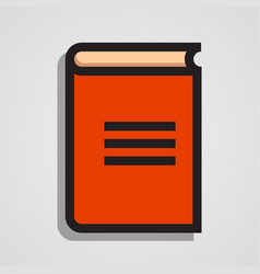 Clean and simple orange book vector