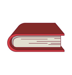 Colorful graphic of thick book vector