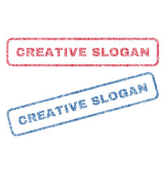 Creative slogan textile stamps vector