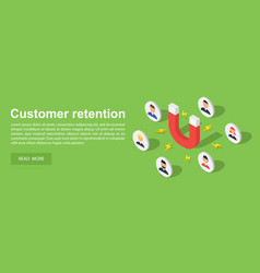 Customer attraction concept banner isometric vector