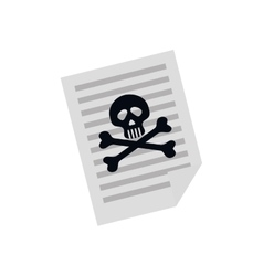 Dangerous sheet paper vector image