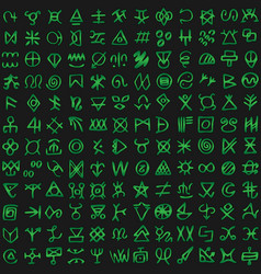 digital green matrix and computer code symbols vector image