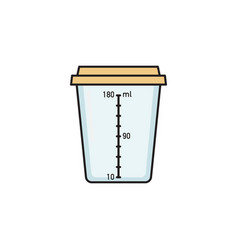 Empty plastic container for urine collection vector