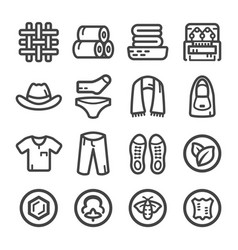 fabric icon vector image
