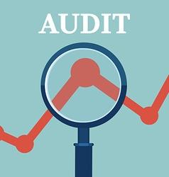 Financial examiner vector image