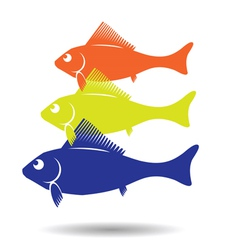 fish symbol vector image