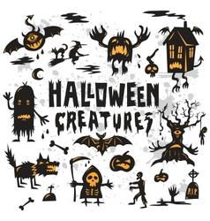 Halloween Creatures Set vector
