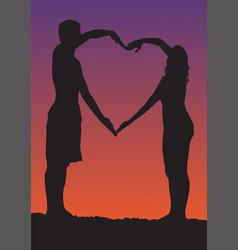 Happy valentines day romantic vector
