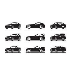 Hardtop convertible sport car in perspective vector