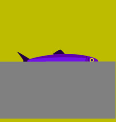 In flat style herring vector