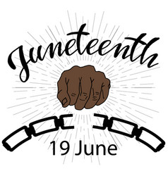 Juneteenth independence day vector