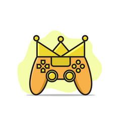 king game logo vector image