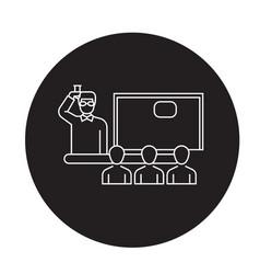 lecture lesson black concept icon lecture vector image