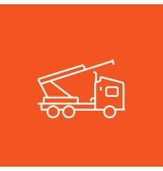 Machine with a crane and cradles line icon vector image