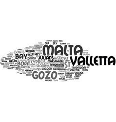 malta word cloud concept vector image