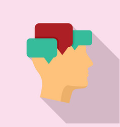 Mind mental chats icon flat style vector