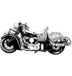 Motorcycle painted with ink vector