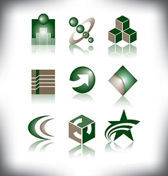 Nine icons to choose from vector image