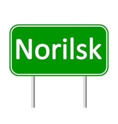 Norilsk road sign vector