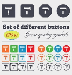 Paint roller icon sign Big set of colorful diverse vector