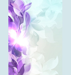 Pale purple light background with abstract leaf vector