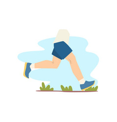 person jogging outdoor healthy lifestyle vector image
