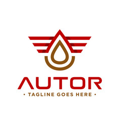 Petroleum logo with letter vector