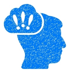 Problem Brainstorm Grainy Texture Icon vector