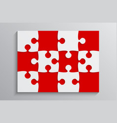 Red piece puzzle banner 12 step background vector