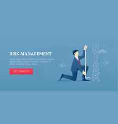 Risk management web banner vector