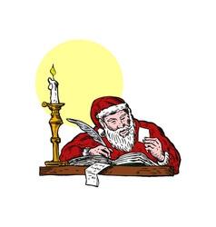 Santa Claus Writing vector image