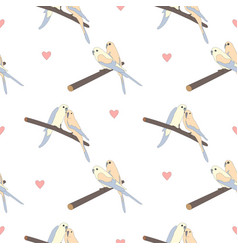 Seamless hand drawn pattern with beautiful couple vector