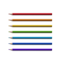 Set of Multicolored Pencils Isolated on White vector image