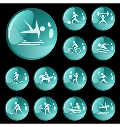 Sport buttons vector image