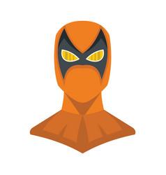 Superhero in flat cartoon style vector