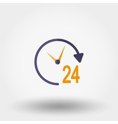 Support 24 hours Icon vector