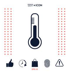 thermometer icon symbol vector image