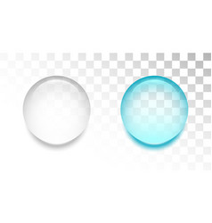 transparent water drop on white background vector image