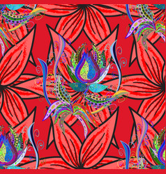 Vintage flowery pattern frourish texture soft vector