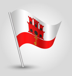 waving simple triangle gibraltarian flag vector image