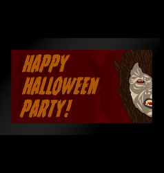 werewolf halloween mask party costume vector image