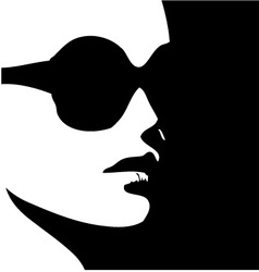 Woman in trendy eye wear vector image