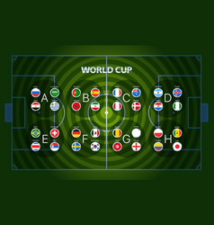 World football championship groups football vector